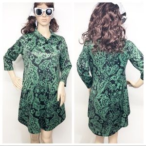 Super Cute MOD 60's Retro Style Paisley Dress